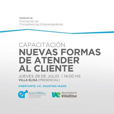 """""""Villa Elisa Activa"""" invita para esta semana a una capacitación sobre """"Nuevas formas de atender al cliente"""""""