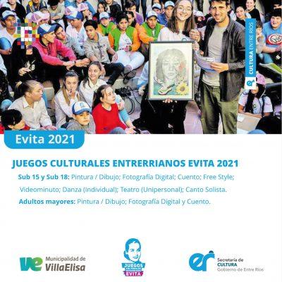 Continúa la fase de inscripción a los Juegos Culturales Evita