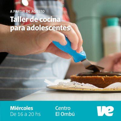 Permanece abierta la convocatoria al Taller de Cocina para adolescentes
