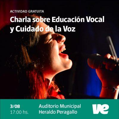 Charla sobre «Educación vocal y cuidados de la voz»